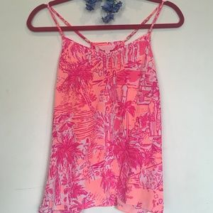 Lilly Pulitzer hot PINK tank top!